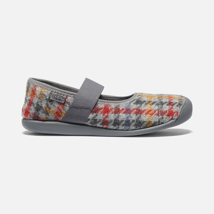 Women's Sienna Plaid Mary Jane in Grey Multi/Pewter - large view.