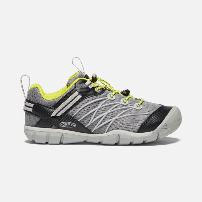 Older Kids' Chandler Cnx Trainers in Steel Grey/Evening Primrose - large view.