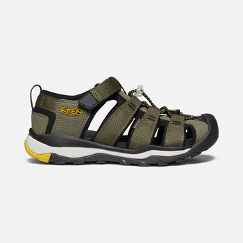 Older Kids' Newport Neo H2 Sandals in Dusty Olive/Sulphur - large view.