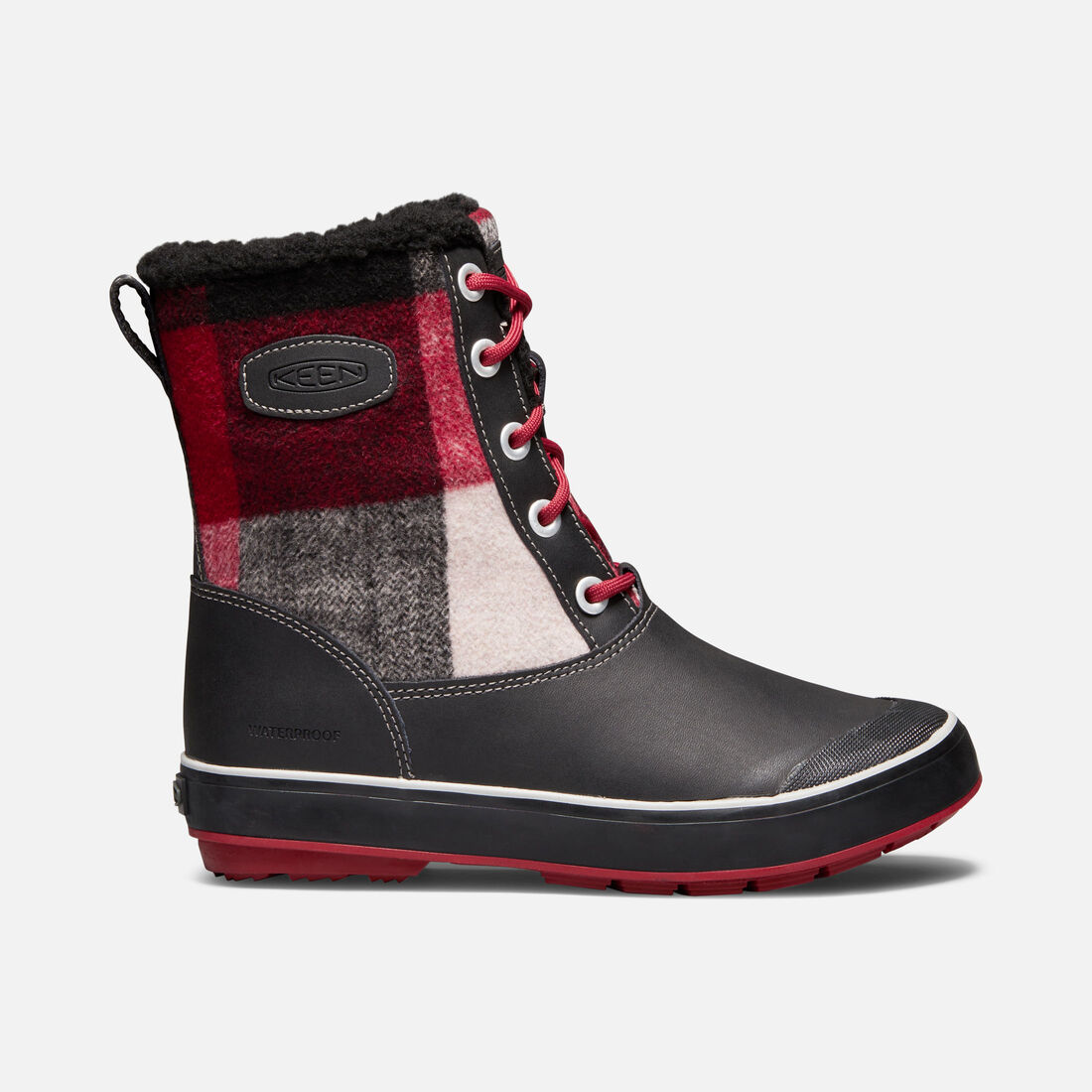 Women's Elsa Boot in Black/Red Dahlia - large view.