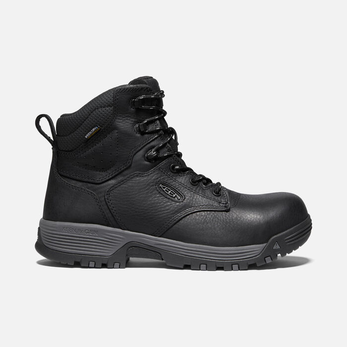 """Men's Chicago 6"""" Waterproof Boot (Carbon-fiber Toe) in Black/Forged Iron - large view."""