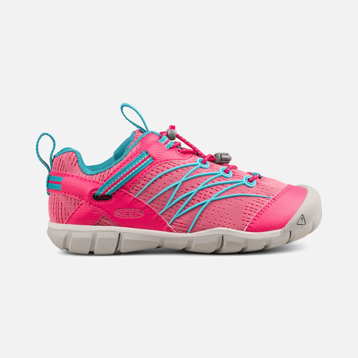 Older Kids' Chandler Cnx Trainers in Bright Pink/Lake Green - large view.