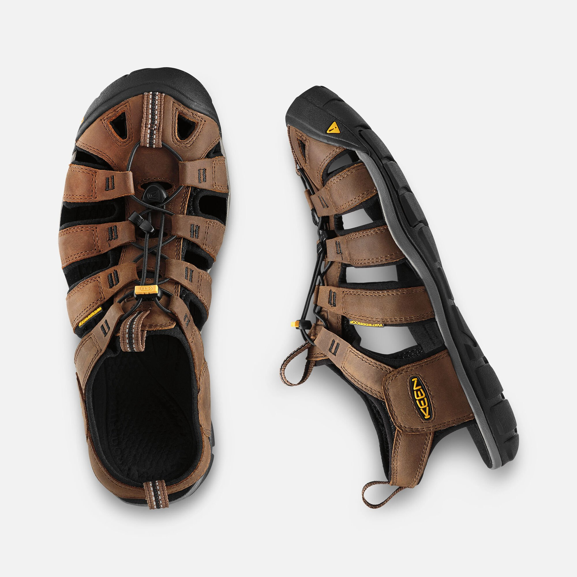 a506054a34f MEN S CLEARWATER LEATHER CNX SANDALS in Dark Earth Black - small view.