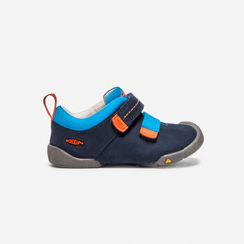 Toddlers' Pep Double Strap Trainers in Dress Blues/Koi - large view.