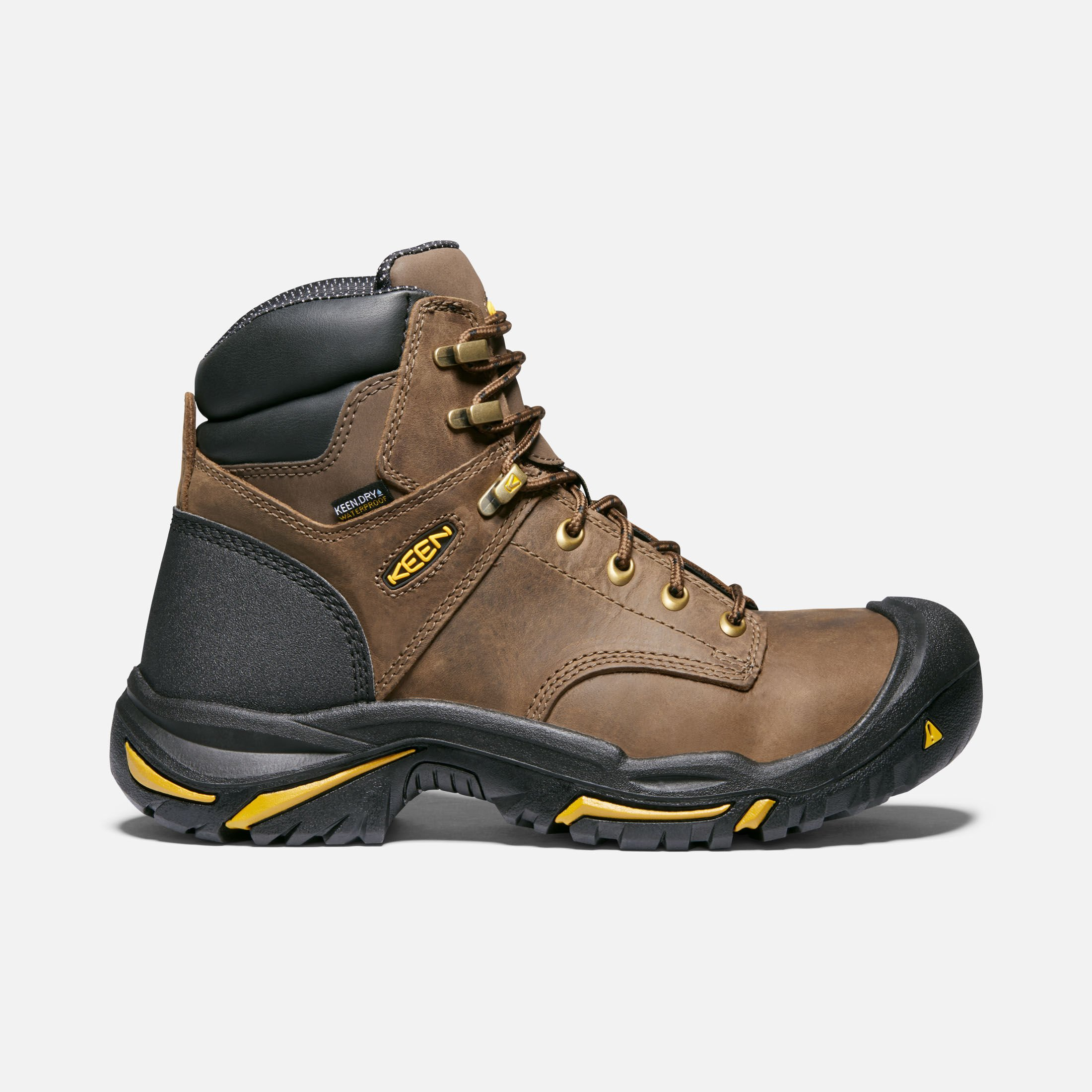 MENS LEATHER LIGHTWEIGHT SAFETY BOOTS ANKLE WORK SHOES METAL TOE CAP SIZE