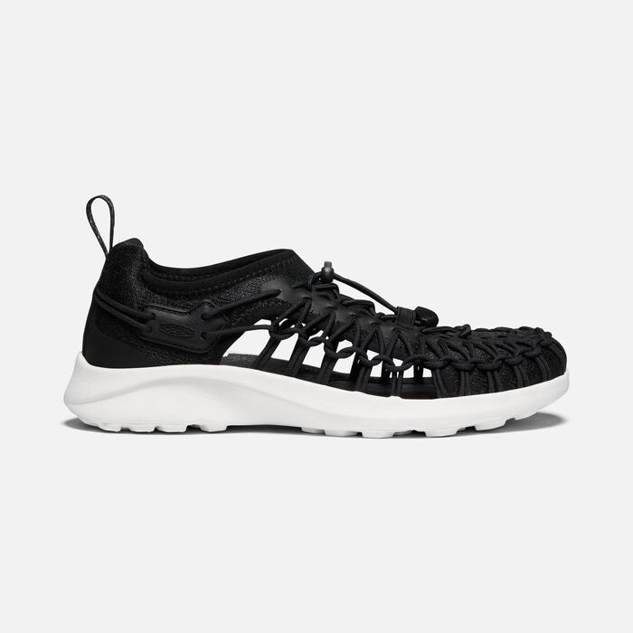 Women's Uneek SNK Shoe in Black/Star White - large view.
