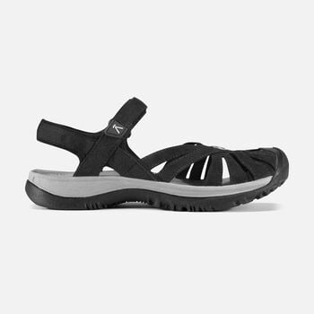 Women's Rose Sandal in BLACK/NEUTRAL GRAY - large view.