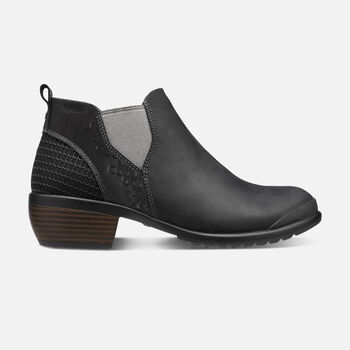 WOMEN'S MORRISON  CHELSEA BOOTS in Black - large view.