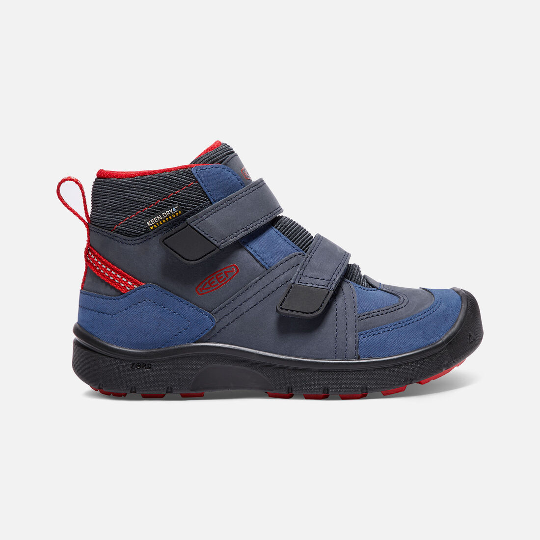 Big Kids' HIKEPORT STRAP Waterproof Mid in Dress Blues/Blue Nights - large view.