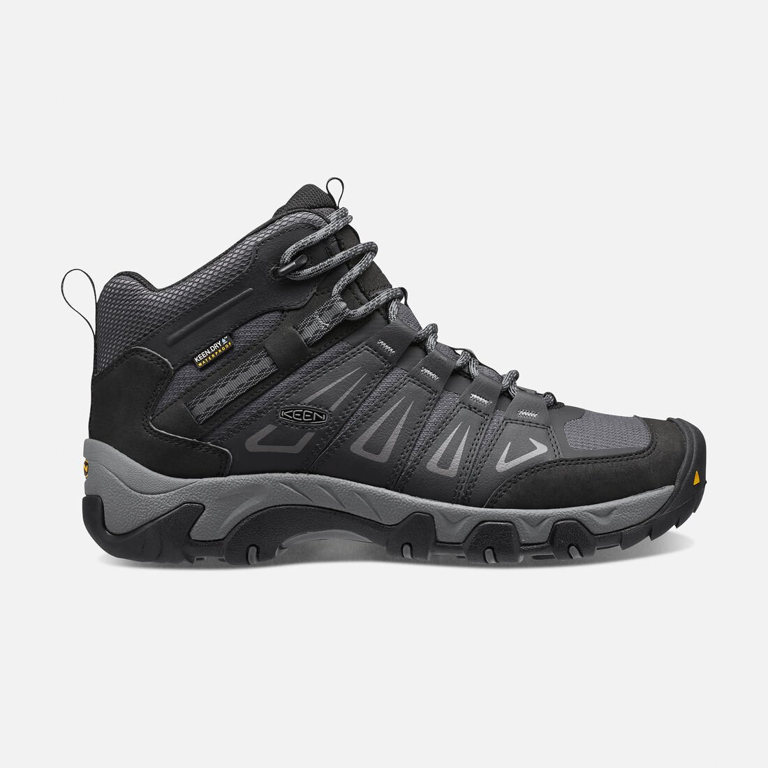 Men's Oakridge Waterproof Mid Wide in Magnet/Gargoyle - large view.