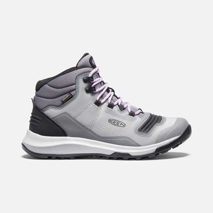 Women's Tempo Flex Waterproof Hiking Trainer Boots in Steel Grey/African Violet - large view.
