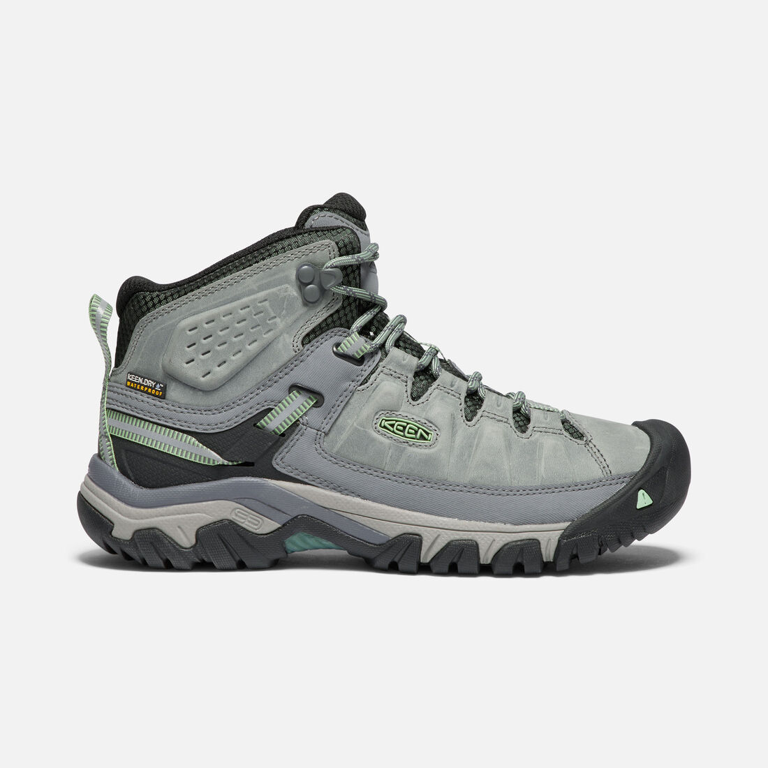 Women's TARGHEE III Waterproof Mid in Bleacher/Duck Green - large view.