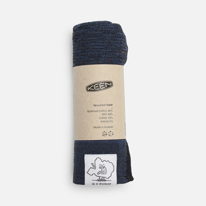 US 4 IRIOMOTEチャリティーECO TOWEL in Navy - large view.