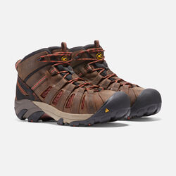 Men's Flint Mid (Steel Toe) in Slate Black/Burnt Henna - small view.