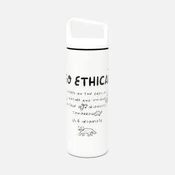 Us 4 IRIOMOTE GO ETHICAL ボトル in White - large view.