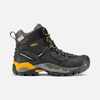 Men's CSA Hamilton Mid (Steel Toe) in Black/Yellow - large view.