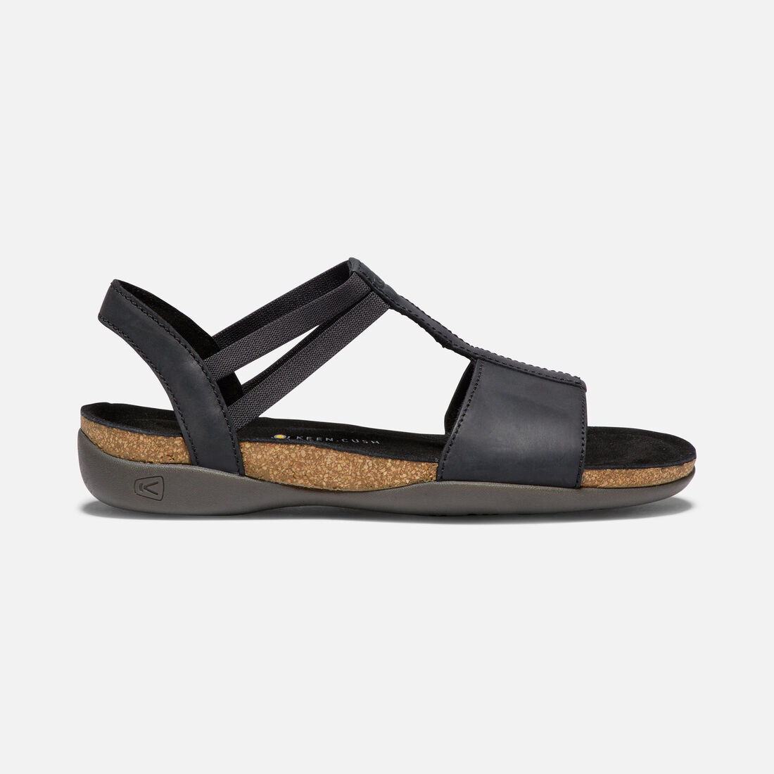 Women's ANA CORTEZ T-STRAP in BLACK/BLACK - large view.
