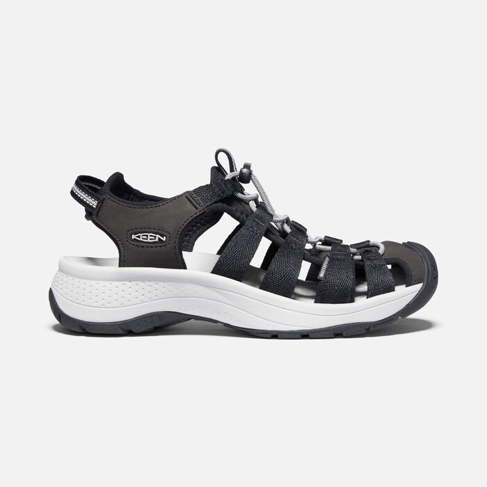 Women's Astoria West Sandals in Black/Grey - large view.