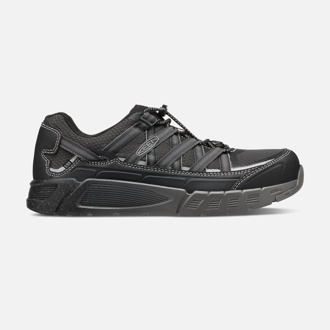 Men's ASHEVILLE AT ESD (Aluminum Toe) in Black/Raven - large view.