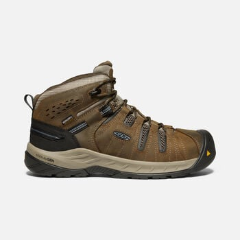 Men's Flint II Waterproof Boot (Steel Toe) in Cascade Brown/Orion Blue - large view.