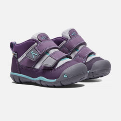 Toddlers' Peek-A-Shoe in Purple Plumeria/Sweet Lavender - small view.