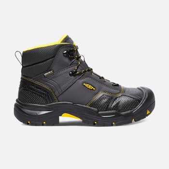 Men's Logandale Waterproof Boot (Steel Toe) in Raven/Black - large view.