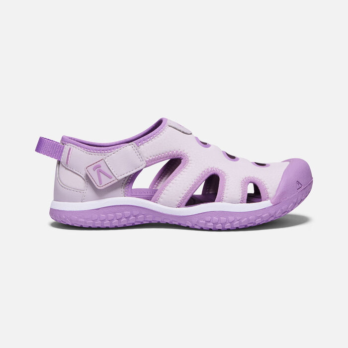 Big Kids' Stingray Sandal in Lavender Fog/African Violet - large view.