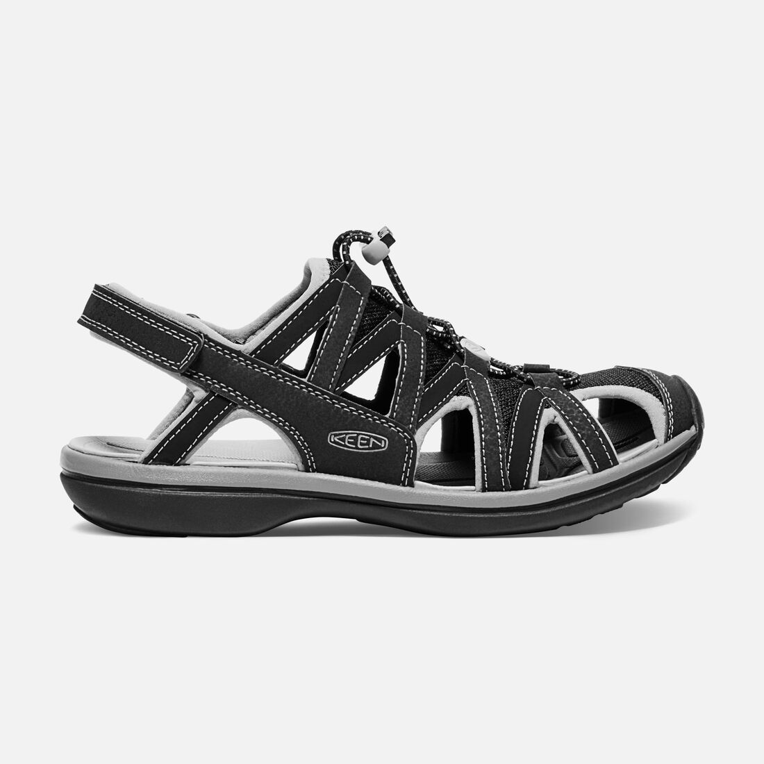 Women's Sage Sandal in Black/Black - large view.