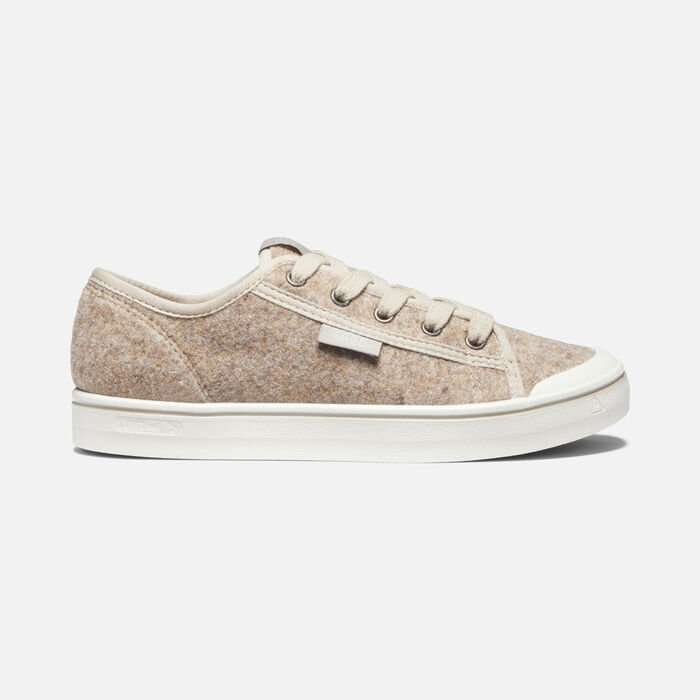 Women's Elsa Lite Felt Trainers in Taupe Felt/Silver Birch - large view.