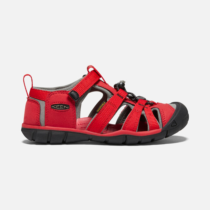 Older Kids' Seacamp II Cnx Sandals in RACING RED/GARGOYLE - large view.