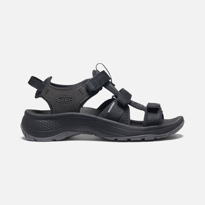 Women's Astoria West Open-Toe Sandals in Black/Black - large view.