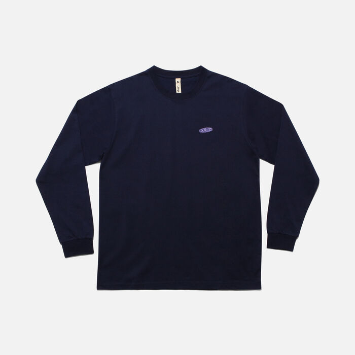 KEEN C&B ロゴ L/S Tシャツ in Navy/Purple - large view.