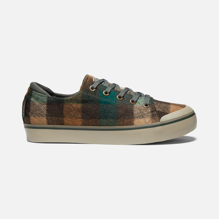ELSA III PLAID SNEAKER POUR FEMME in BROWN PLAID/CLIMBING IVY - large view.