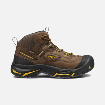 Men's Braddock Waterproof Mid (Steel Toe) in Cascade Brown/Tawny Olive - large view.