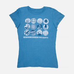 Women's Keen Earth Day T-Shirt in Ocean - small view.