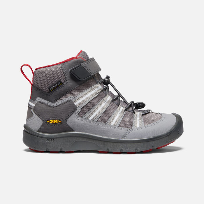 Older Kids' Hikeport II Sport Waterproof Trainer Boots in Magnet/Chili pepper - large view.