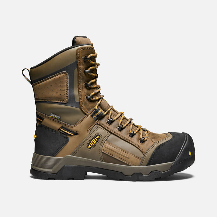 "CSA DAVENPORT 8"" Insulated Waterproof Boot (Composite Toe) pour homme in DARK EARTH/INCA GOLD - large view."