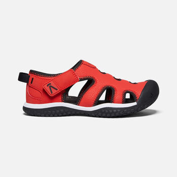 Big Kids' Stingray Sandal in Black/Fiery Red - large view.