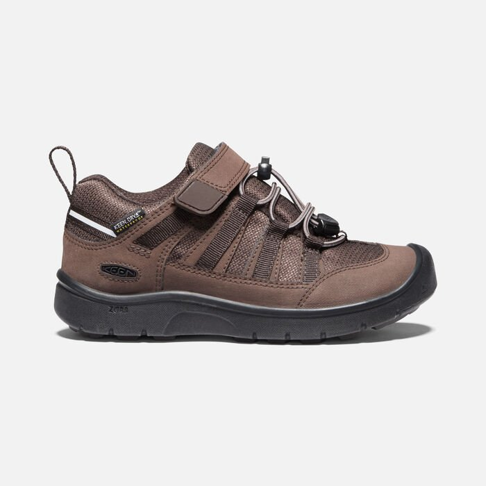 Younger Kids' Hikeport II Waterproof Hiking Trainers in Coffee Bean - large view.