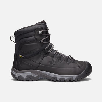 Men's Targhee High Lace Waterproof Hiking Boots in BLACK/RAVEN - large view.