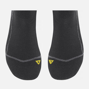 Women's Bellingham Lite Crew Hiking Socks in Black / Black - large view.