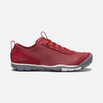 Women's Hush Leather CNX in BIKE RED - large view.