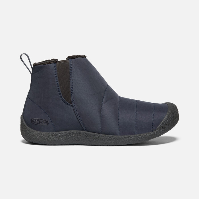 large side view image of india ink/raven slip-on Chukka boots for men's Howser Mid