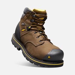 CSA Edmonton Mid (Steel Toe) pour homme in Brown - small view.