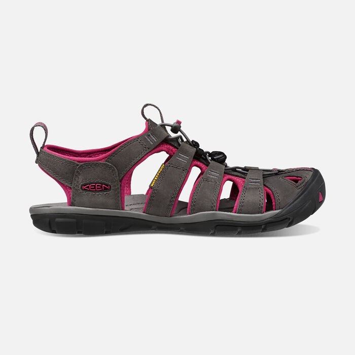 Women's Clearwater Leather Cnx Sandals in Magnet/Sangria - large view.