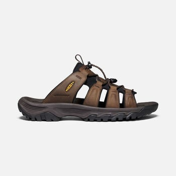 Men's Targhee III Slide Sandals in Bison/Mulch - large view.