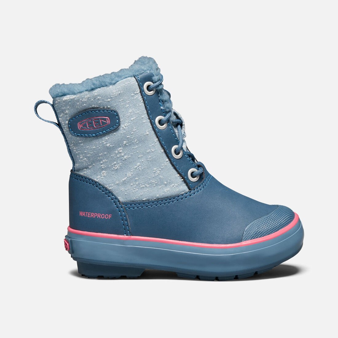 Big Kids' Elsa Boot in Captains Blue/Sugar Coral - large view.