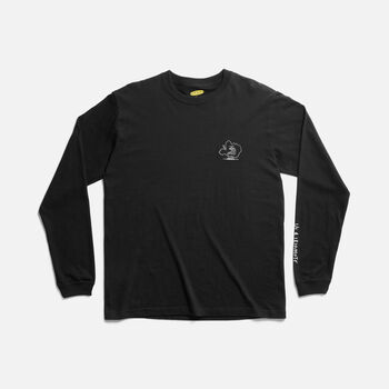 US 4 IRIOMOTE チャリティーL/S TEE EMB 『イリオモテヤマネコ』 in Black - large view.