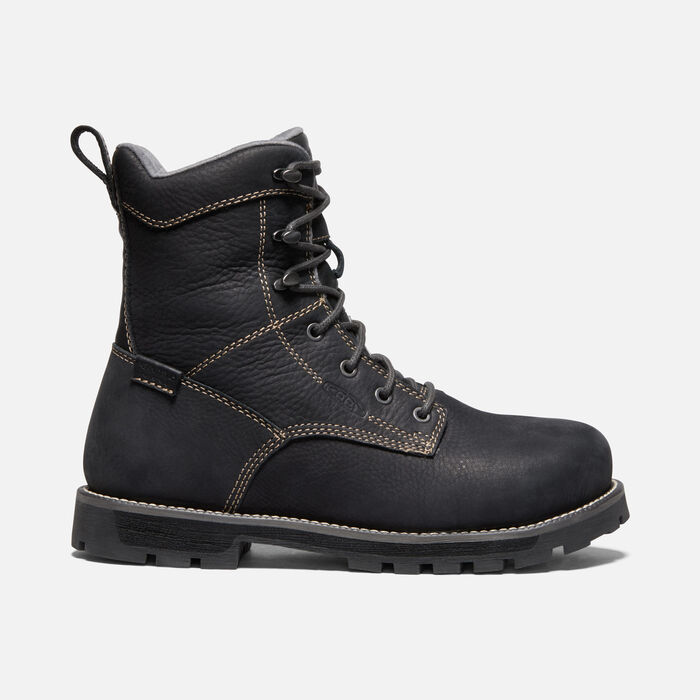 "Women's CSA Seattle 8"" Waterproof Boot (Aluminum Toe) in BLACK/STEEL GREY - large view."