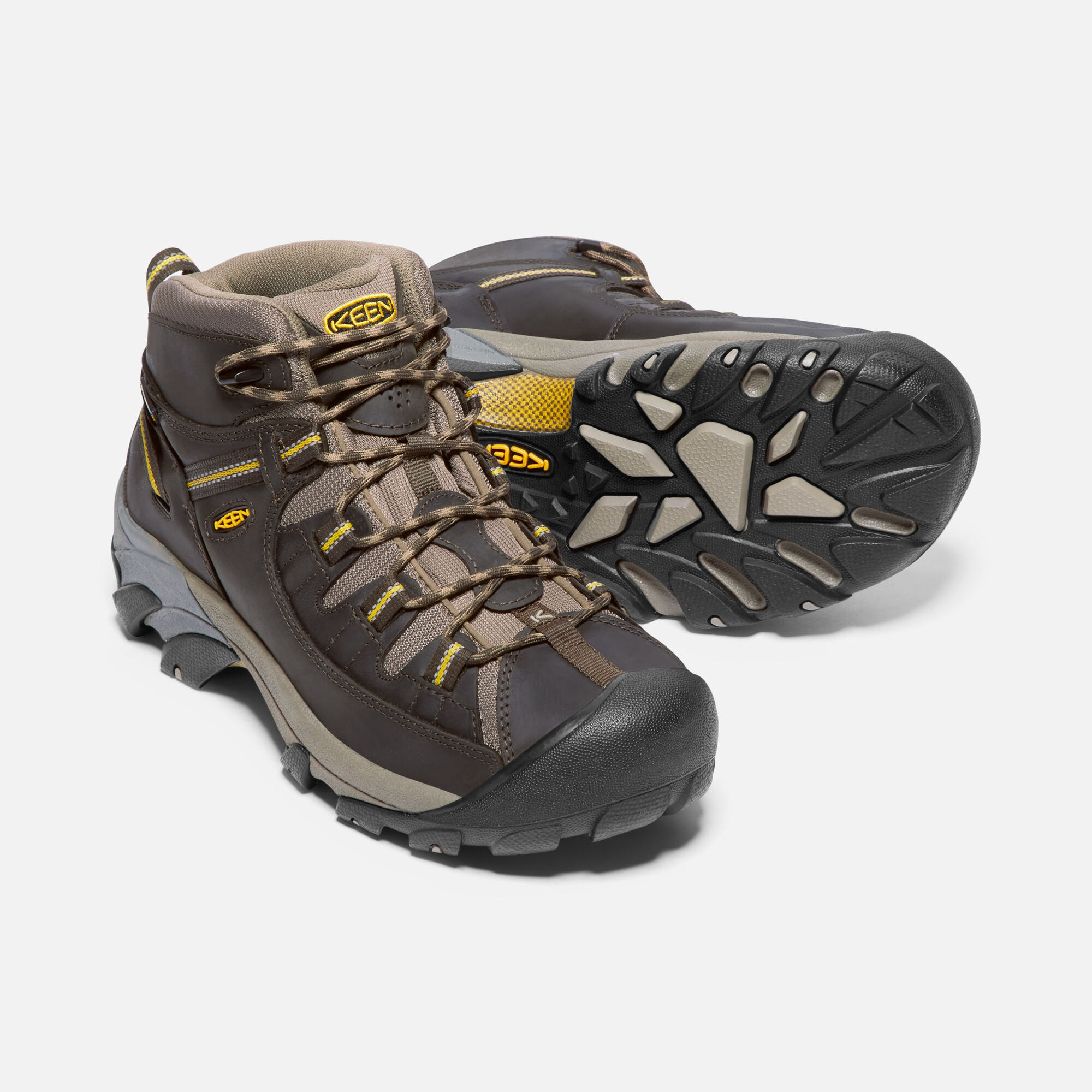 63e12325116 Men s Targhee II Waterproof Mid Wide in Black Olive Yellow - small view.